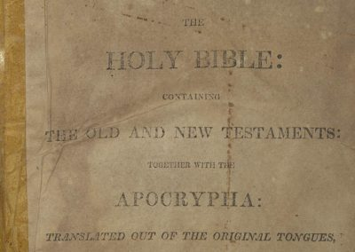 The Holy Bible, containing the Old and New Testaments together with the Apocrypha: translated out of the original tongues, and with the former translations diligently compared and revised.