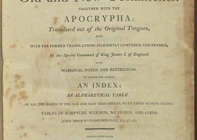 Bible 207, Title page