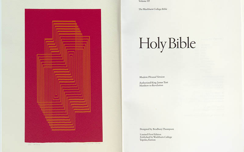 Holy Bible : modern phrased version : the Washburn College Bible.