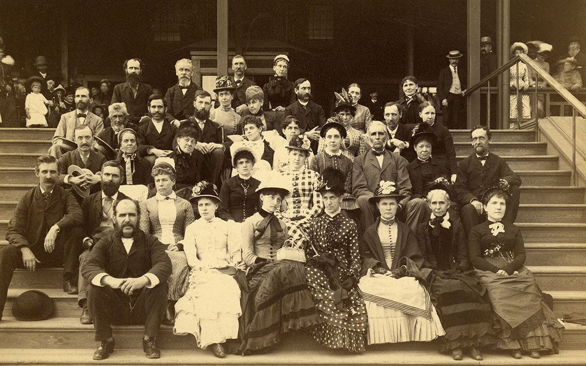 Photograph of the Christian Scientist Association at the Point of Pines picnic.